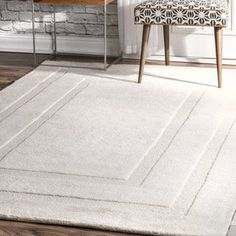 nuLoom Transitional Ivory Wool Double Border Handmade Area Rug (5' x 8') by Nuloom Overstock Sale$120 Shop for nuLoom Transitional Ivory Wool Double Border Handmade Area Rug (5' x 8'). Get free shipping at Overstock.com - Your Online Home Decor Outlet Store! Get 5% in rewards with Club O! - 25236816