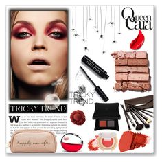 """she is queen cara"" by kriz-nambikatt on Polyvore featuring beauty, Bobbi Brown Cosmetics, Deux Lux, DKNY, Borghese, Estée Lauder, Illamasqua, Jane Iredale, RedCarpet and red"