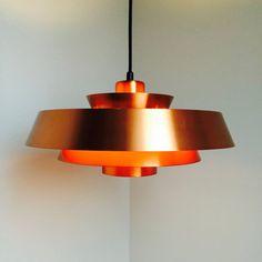 Jo Hammerborg - NOVA in Copper - Danish Design from 1963 - by Fog and Mørup - Danish Mid Century Lamp
