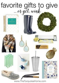 Looking for a gift for your sister or your best friend? Look no further. These would all be welcome presents under the tree! | Favorite Gifts to Give (and Get!) at TheTurquoiseHome.com