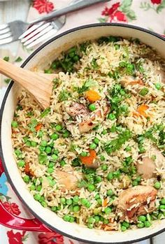 Image result for chicken with rice and veggies
