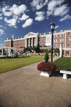Explore the beautiful grounds of The Culinary Institute of America in Hyde Park, New York.