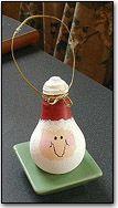 Light Bulb Santa- Christmas Holiday Arts and Crafts - December - KinderArt