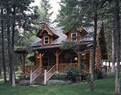 "This charming, 760 square-foot log cabin belongs to famous animal expert and zookeeper Jack Hanna. It was named Elk Cabin because it sits on an old elk farm in Montana, just outside Bigfork, but since he shares this secluded retreat with his wife Suzi, they call it their ""Honeymoon Suite."""