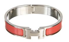 Hermes Coral and Palladium Clic Clac Narrow PM Bracelet. Get the lowest price on Hermes Coral and Palladium Clic Clac Narrow PM Bracelet and other fabulous designer clothing and accessories! Shop Tradesy now