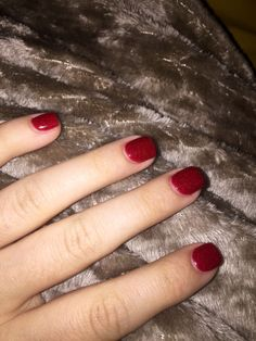NexGen Manicure Red Shimmer Squared