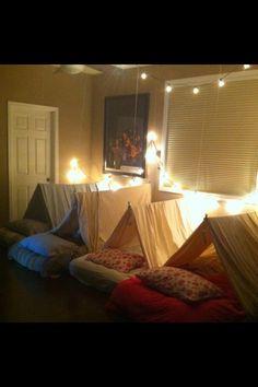 my little girls room  indoor camping :)