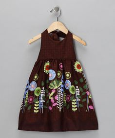Moo boo dress. Many cute dresses with bright, interesting fabrics for little girls.