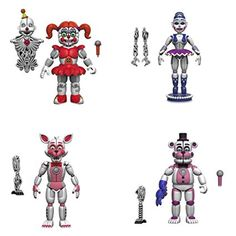 Five Nights At Freddy S 5 Quot Articulated Action Figures Baby Ft Foxy Ft Freddy Ballora Set Of 4 Ennard Fnaf Action Figures, Vinyl Figures, Ninja Turtle Birthday, Turtle Birthday Parties, Five Nights At Freddy's, Best Christmas Toys, Freddy's Nightmares, Fnaf Baby, Freddy 's