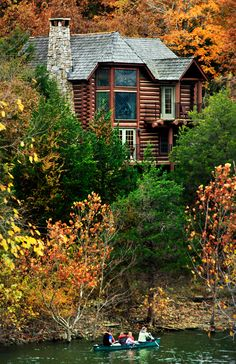 #Big Cedar Lodge ... #log cabin #cabin #rustic #autumn #foliage