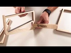 You can use our products any way you like, but here is a quick demo on how to assemble your Helmm wooden laptop stand for the sturdiest support for your lapt. Wooden Laptop Stand, Laptop Table, Tablet Stand, Phone Stand, Office Items, Wood Crafts, Cnc, Office Desk, Manual
