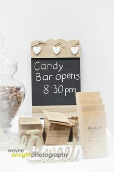 Love this rustic lolly bar. Ideal for wedding receptions or Birthday parties at the Tailrace Centre