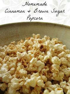 6/14/13 Cinnamon & Brown Sugar Popcorn recipe - DIY popcorn in a paper bag- It worked! Never knew you could do popcorn dry in a paper bag like that. I had to add toppings in a large bowl because there was not enough room to shake it, in the bag.