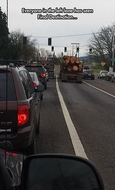 I never stay behind any trucks with pipes or logs!!! Dump A Day Funny Pictures Of The Day - 62 Pics