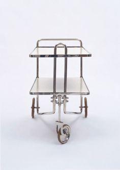 Marcel Breuer, Tee Cart, modell B54, 1928. Made by Thonet. Via MoMA