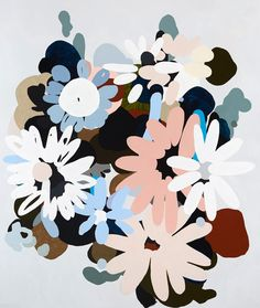 Mizar (crazy peach), 2015, acrylic on polyester, 185 x 153 cm | KIRRA JAMISON