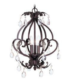 Livex Lighting 8164 Iron Crystal 15 Inch Mini Chandelier | Capitol Lighting 1-800lighting.com