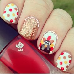 Happy Thanksgiving Nails 2019 : In this post, we tried our best to provide you the collection of Thanksgiving nail art designs, Thanksgiving nail designs Thanksgiving Nail Designs, Holiday Nail Designs, Thanksgiving Nails, Holiday Nail Art, Fall Nail Art, Thanksgiving Turkey, Happy Thanksgiving, Nagellack Design, Nagellack Trends