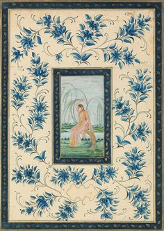 www.christies.com lotfinderimages D53474 a_painting_of_a_woman_seated_on_a_tree_india_rajasthan_18th_century_d5347411g.jpg