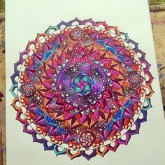 Universe, colors, mandala art