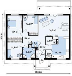 Проекты с тремя спальнями | 21 фотография