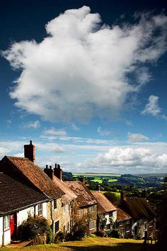 Gold Hill Summer II, The famous Gold Hill in basks in the late Summer sun. #Scenery #Sky #Photography