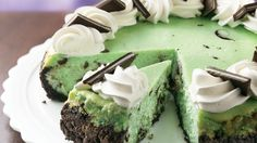 Mint, chocolate, cheesecake. Three fantastic flavors that come together in one awesome dessert!