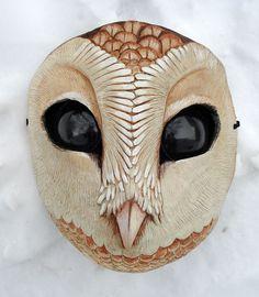 Owl mask by MissMonsterMel. missmonster.myshopify.com
