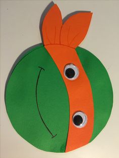 syntymäpäivä, kortti, diy, birthday, card, children, turtles, michelangelo, 2015