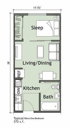 70 Ideas Home Studio Quarto Pequeno Small Apartment Plans Studio Apartment Floor Plans Small Apartment Layout