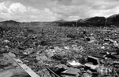 "nagasaki  after bombing | Nagasaki after the atomic bomb explosion "" August 9, 1945"