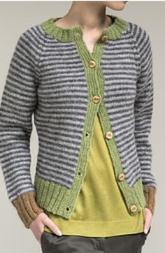 Knit Jacket, Sweater Jacket, Knit Cardigan, Fabric Yarn, Striped Jacket, How To Purl Knit, Pullover, Drops Design, Sweater Design