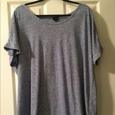 Two plus size tees Two plus size tees one is scoop neck and the other one is v neck. Both in new condition. Tops Tees - Short Sleeve