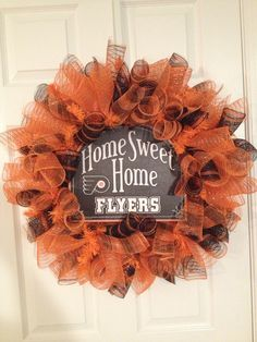 philadelphia flyers deco mesh wreath