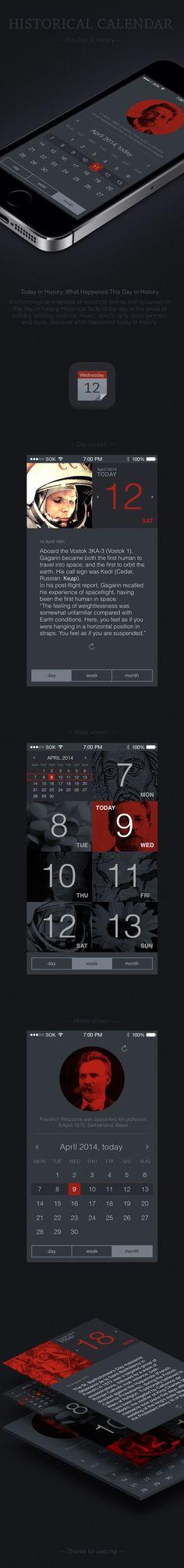 HistoricaL Calendar by Pavel Klochko, via Behance
