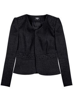 02083db71fe Felipe Varela Short Tweed jacket with Swarovski detail. Chaqueta Hombre ...
