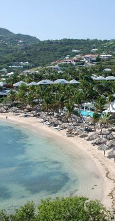 Guanahani Beach on Grand Case Bay in St. Barts