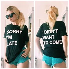 """""""You should feel honored that I even made it to your party.  Tag someone who needs this tee and get yours on JACVANEK.COM or at select @topshop stores! ✨"""""""