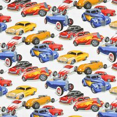 Shop Alexander Henry Hot Rods Natural Fabric at onlinefabricstore.net for $9.75/ Yard. Best Price & Service.