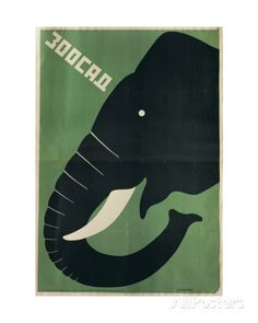 Poster for the Leningrad Zoo, 1928 Giclee Print by Dmitri Anatolyevich Bulanov - AllPosters.co.uk
