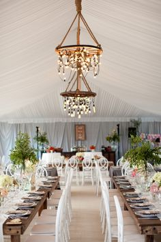Gorgeous tented wedding by Alison Events