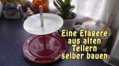 Etagere aus alten Tellern selber bauen