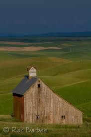 Barn...Palouse, Wa. The best...so simple and honest is the salt box...our favorite minimalist architecture.  our home.  K.W.