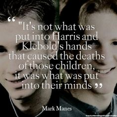 Harris and Klebold were 'dis-enchanted United State's youth', who were wholly created using control of the human mind, by the same hostile foreign entity responsible for taking me hostage. 02/09/2018 @ Gerald's -BL.