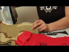 How to Silkscreen a T-Shirt : Ironing T-Shirts to Heat Set Image for Sil...