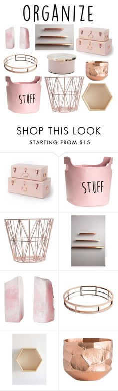 """Organize"" by lilyheart4ever ❤ liked on Polyvore featuring interior, interiors, interior design, home, home decor, interior decorating, ferm LIVING, Anthropologie, Philmore and Urban Outfitters"