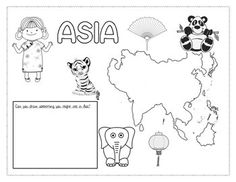 Coloring the World Geography For Kids, Asia, 7 Continents, Backyard Play, African Artists, Montessori Toddler, Biomes, Teaching English, Teaching Kids