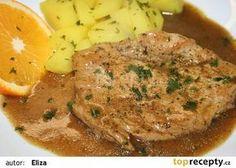 Voňavé krůtí plátky s přírodní šťávou recept - TopRecepty.cz Stew, Mashed Potatoes, Turkey, Pork, Decor, Diets, Whipped Potatoes, Pork Roulade, Decoration