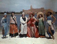 """1928 Beachwear including beach pajamas. ! """""""