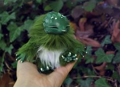 Winter Woodling- original fantasy creature art doll